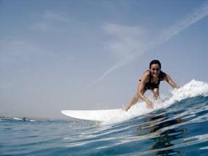 Sonja Surfing Famara